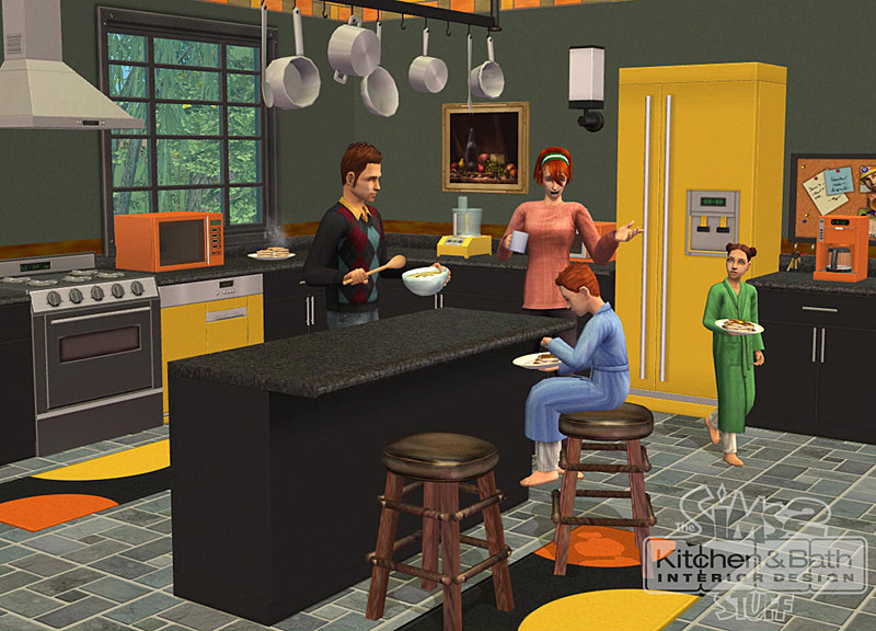 Les sims 2 cuisine et salle de bain design kit for Sims 2 kitchen ideas