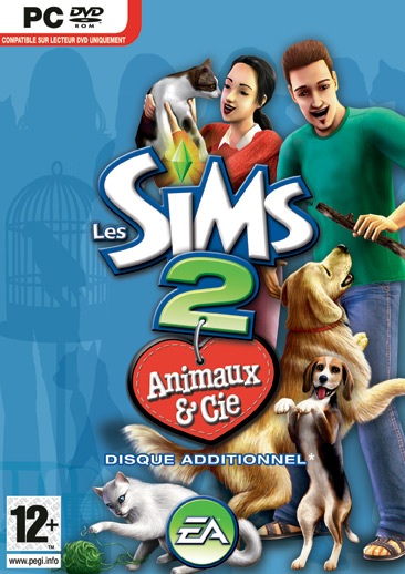 Boitier Les Sims 2 : Animaux & Cie