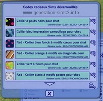 Codes Les Sims 2 : Animaux & Cie