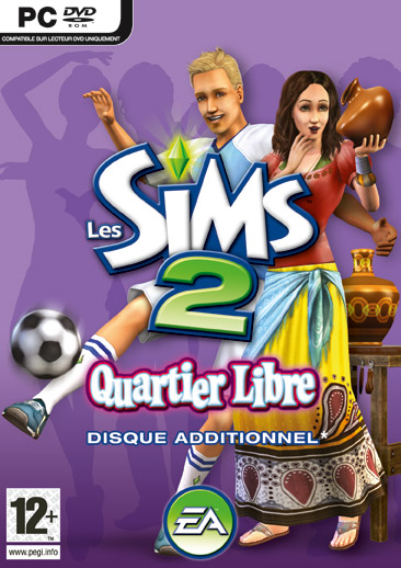 Boitier Les Sims 2 Quartier Libre