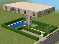 Maison sims 2 for Modele maison sims 2