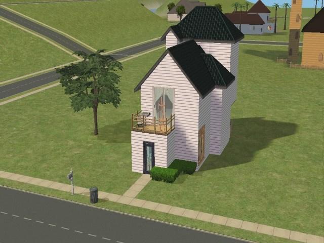 Piscine non for Modele maison sims 2